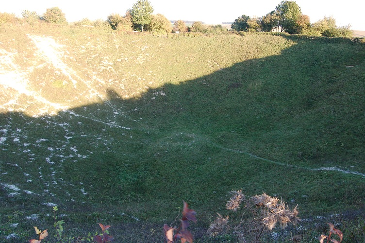 Lochnagar crater, La Boisselle, The Somme, France